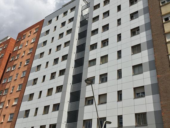 rehabilitación fachada ventilada